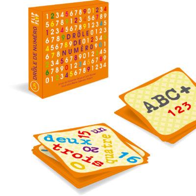 Jeu de cartes Drôle-de-Numéro de Flip Flap Editions