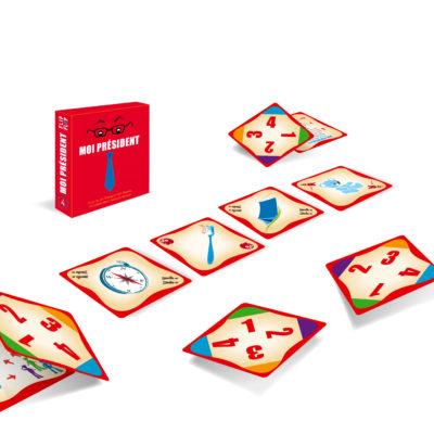 Jeu de cartes Moi Président - Flip-Flap Editions