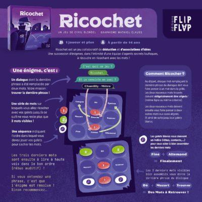 Jeu Ricochet - Triptyque